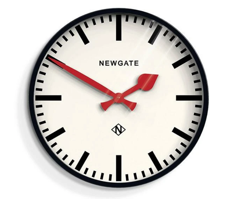The Putney Wall Clock Black Barn Light Electric