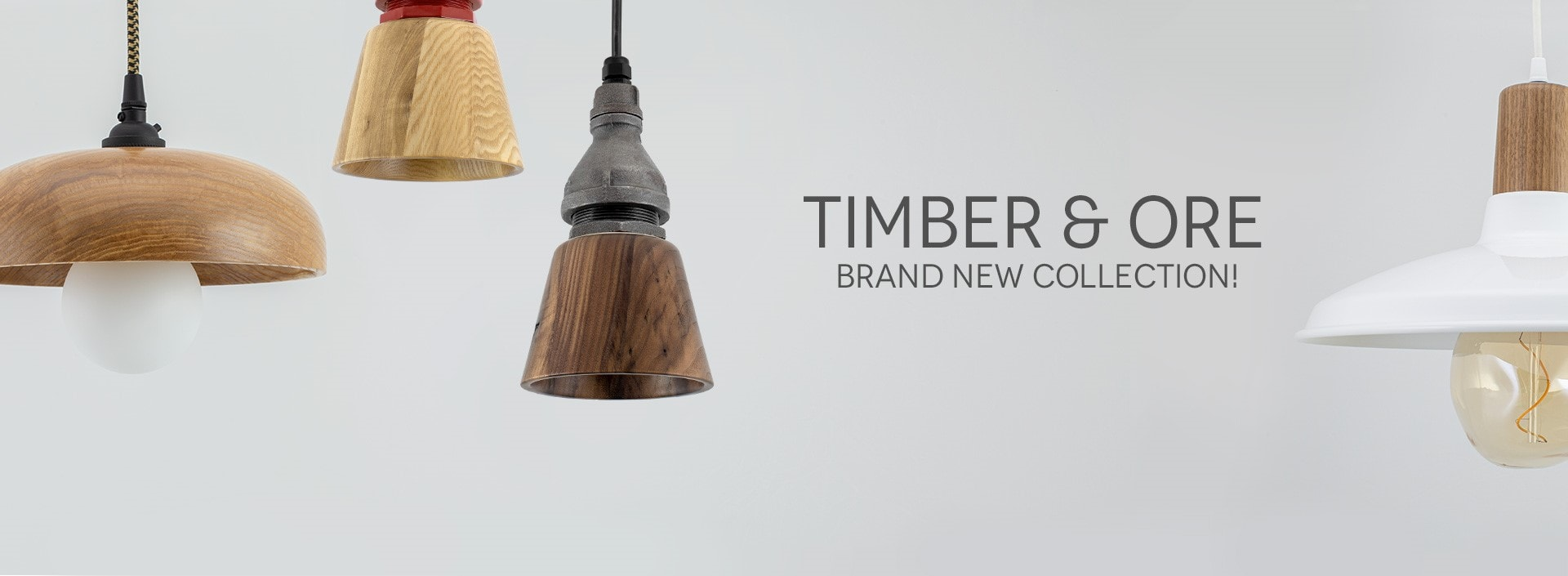 Timber and Ore Ceiling Pendant Light