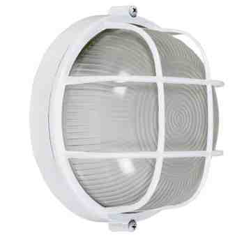Anchorage Bulkhead Wall Mount Light Fixture Large Size, 200-White Finish