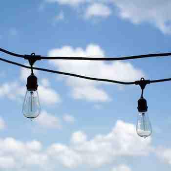 Outdoor Café String Lights, 1890 Era 40w Edison Style Bulbs
