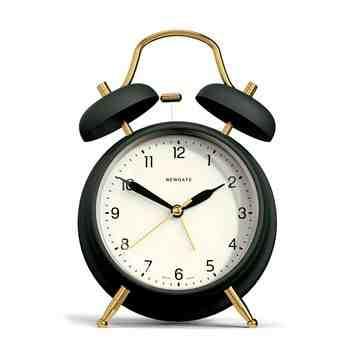 Brass Knocker Alarm Clock, Matte Velvet Green