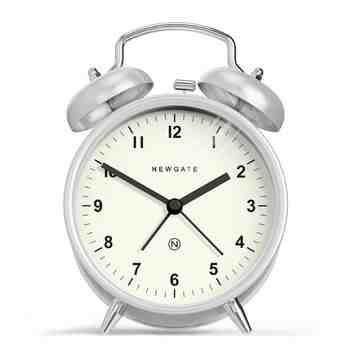 The Charlie Bell Alarm Clock, Burnished Steel