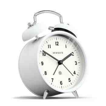 The Charlie Bell Alarm Clock, Matte Pebble White