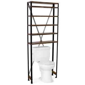 Jax Toilet Shelf, MP-Mahogany Pine, 100-Black