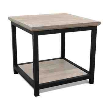 Remy End Table, GWP-Grey Wash Pine, 100-Black