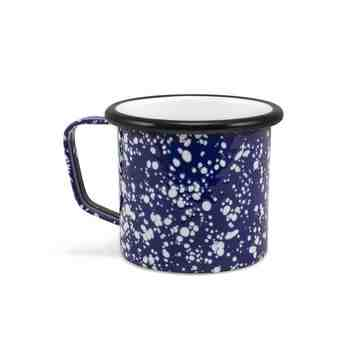 Enamelware Coffee Mug, 760-Cobalt Blue with White Speckles