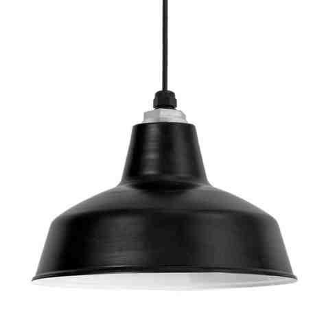 "12"" Farm & Barn Pendant, 100-Black, SBK-Standard Black Cord"