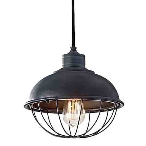 Rounded Iron Cage Bowl Pendant (Light Bulb Not Included)