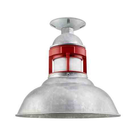"""12"""" Outback, 975-Galvanized with 400-Barn Red Guard, No Cap, FST-Frosted Glass"""