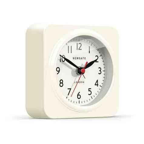 Biscuit Alarm Clock, Gloss Linen White