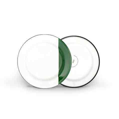 Enamel Dipped Dessert Plate, 350-Vintage Green