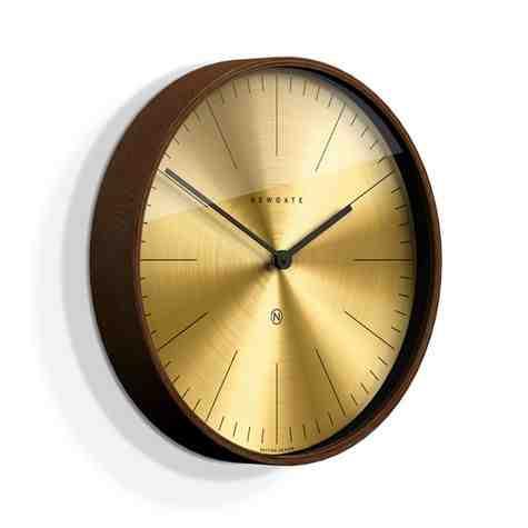 The Mr. Clarke Clock, Small, Dark Stain Case, Fine Marker Brass Dial