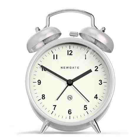 The Charlie Bell Alarm Clock, Burnished Steel