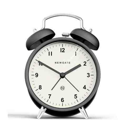 The Charlie Bell Alarm Clock, Matte Black