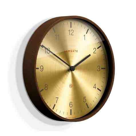 The Mr. Clarke Clock, Small, Dark Stain Case, Arabic Brass Dial
