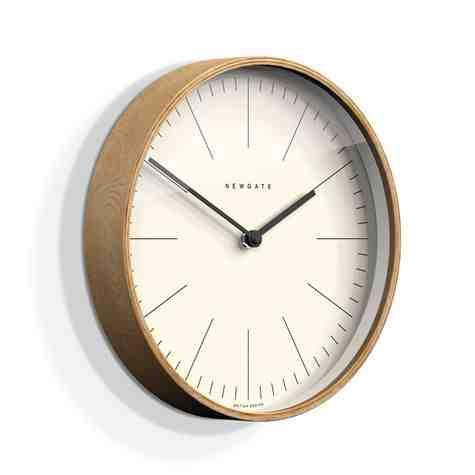 The Mr. Clarke Clock, Small, Pale Wood Case, Fine Marker Dial