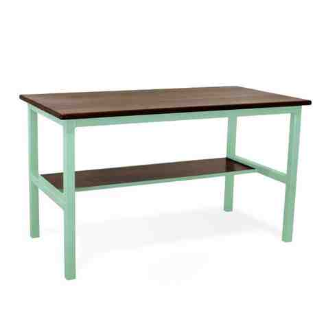 Brady Standing Desk (front), NW-Natural Walnut, 311-Jadite