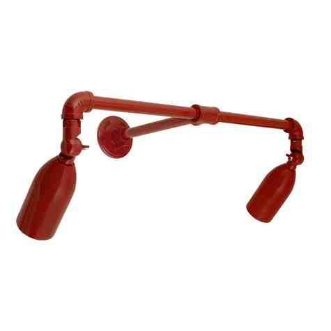 Bullet Dual LED Sign Light, 400-Barn Red