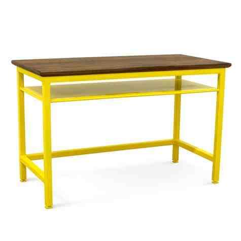 Arthur Writing Desk, NW-Natural Walnut, 500-Buttery Yellow