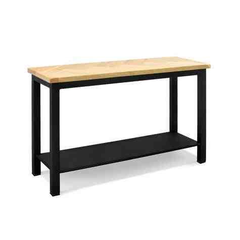 Herringbone Sofa Table, GP-Golden Pine, 100-Black