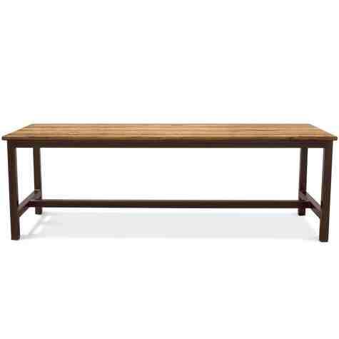 Calvin Community Table, NO-Natural Oak, 601-Chocolate