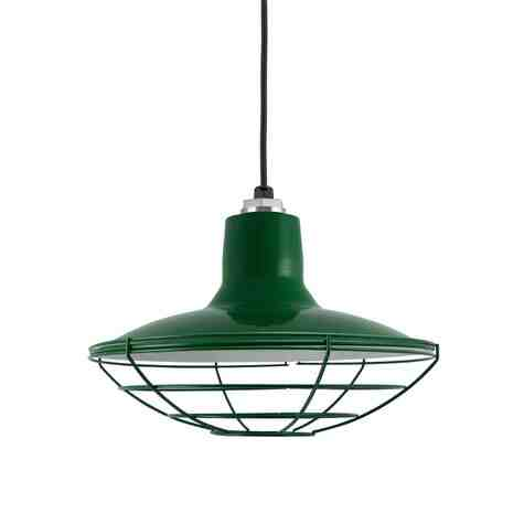 """14"""" Dominion, 307-Emerald Green, Wire Cage, CSB-Black Cloth Cord"""