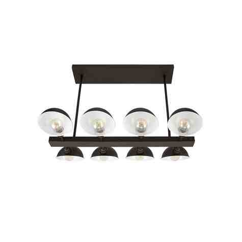 Parabolic Linear 8-Light Chandelier, 615-Oil-Rubbed Bronze | Shown with Nostalgic Edison-Style Victorian Bulbs