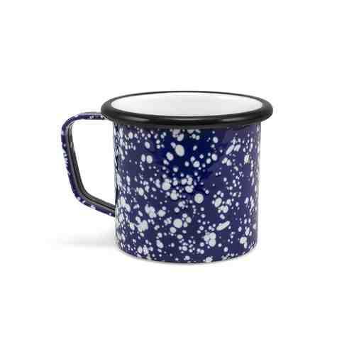 Enamelware Coffee Mug, 760-Cobalt Blue with White Speckles