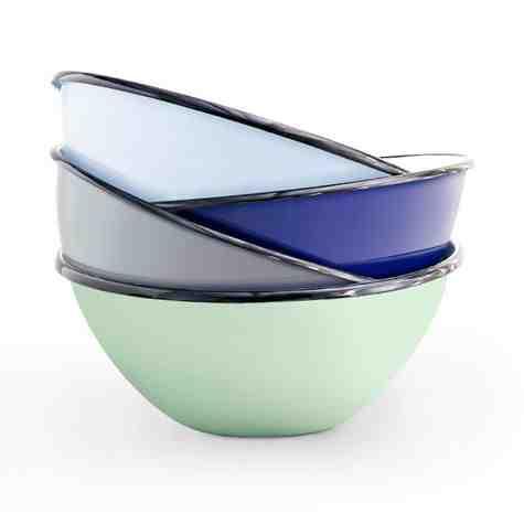 Salad Enamelware Bowls