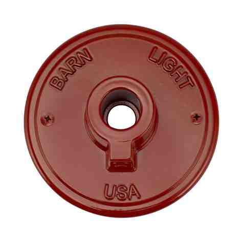 Gooseneck Arm Wall Backing Plate, 400-Barn Red