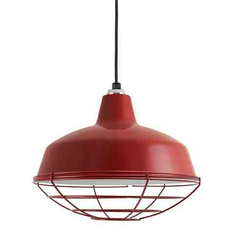 """16"""" Avalon LED, 400-Barn Red, Wire Cage, CSB-Black Cloth Cord"""
