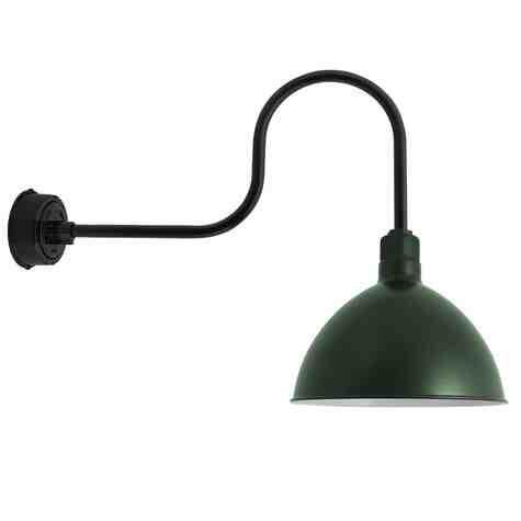 "16"" Wilcox LED, 300-Dark Green, G6 Gooseneck Arm"