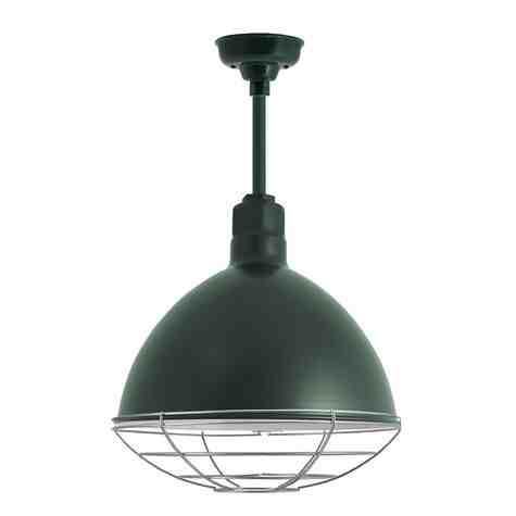 "16"" Wilcox LED, 300-Dark Green, Wire Cage, 975-Galvanized"