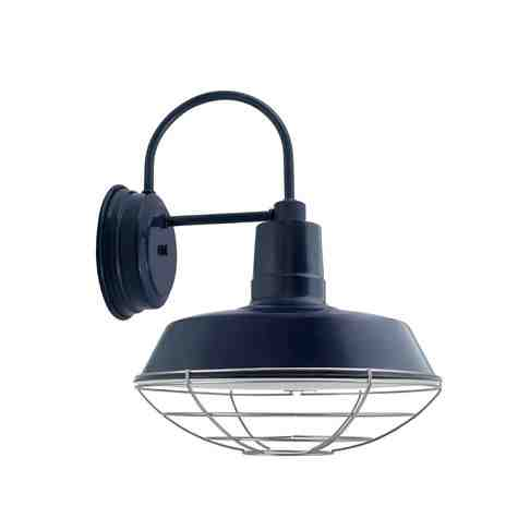"""14"""" The Original™ LED Sconce, 705-Navy, Wire Cage, 975-Galvanized"""