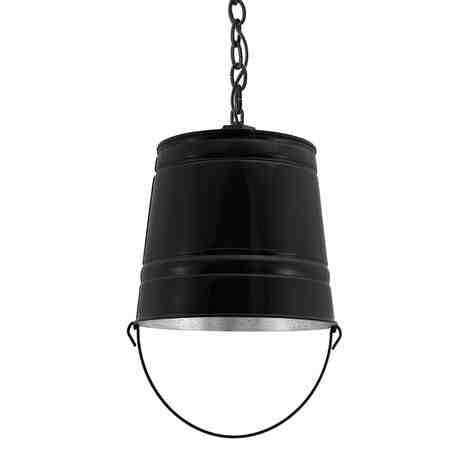 Bucket Chain Hung Pendant, 100-Black, SBK-Standard Black Cord