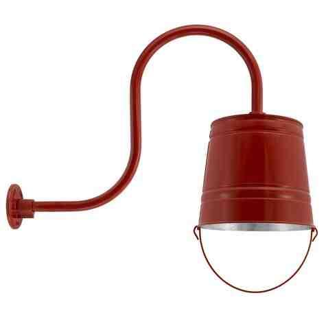 Bucket Gooseneck Light, 400-Barn Red, G32 Gooseneck Arm