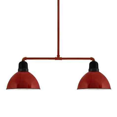 """14"""" Kickoff, 455-Porcelain Cherry Red, Heat Sink in 150-Black, 18"""" Arms & Mounting in 455-Cherry Red"""