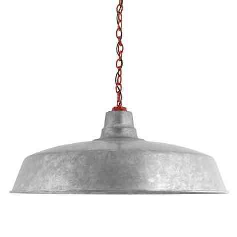 "28"" The Original™ Chain Hung, 975-Galvanized, Mounting in 400-Barn Red, SBK-Standard Black Cord"