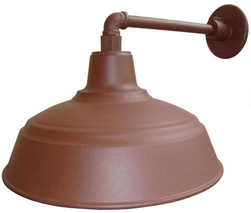 All Weather Gooseneck Barn Light Rust