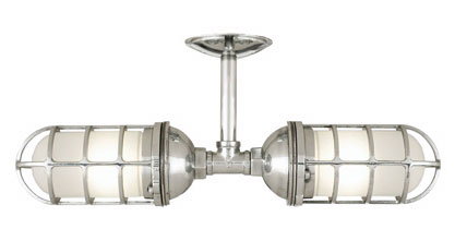 Polished Aluminum Atomic Industrial Sconce