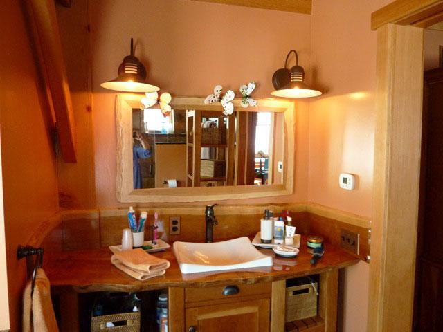 Rustic Rosewood Wall Sconce Vanity Mirror Light