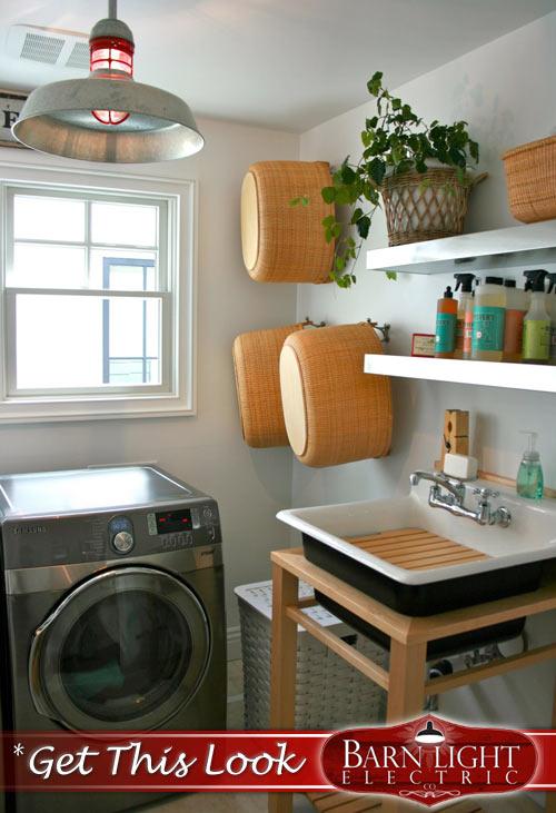 Galvanized RLM Pendant Laundry Lighting