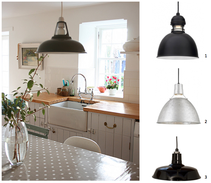 Barn Light Electric Cord Hung Pendants Country Kitchen