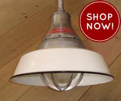 vintage industrial barn light