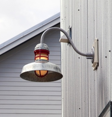 outback galvanized gooseneck light