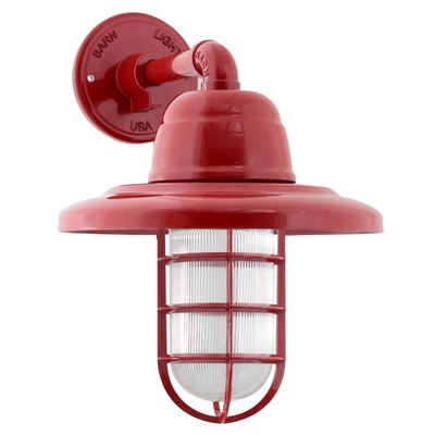 atomic industrial guard ccg sconce 400 barn red ribbed glass
