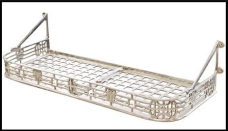 large train rack shelf brass hardware