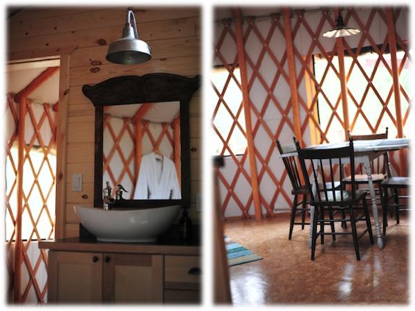 yurt rustic gooseneck pendant light