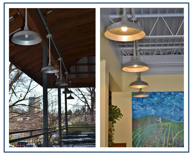 galvanized warehouse shades commercial