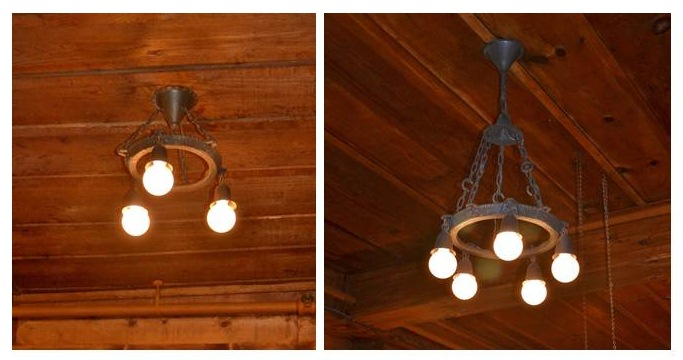 vintage chandelier industrial farmhouse